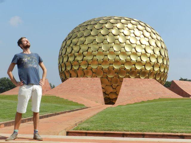 Daan is aangekomen in Auroville