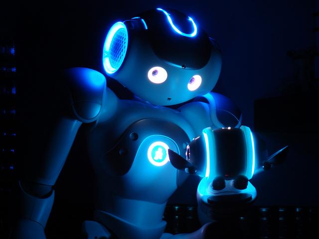 Nao is een Franse humanoid robot. Foto:  Horia Pernea, Creative Commons