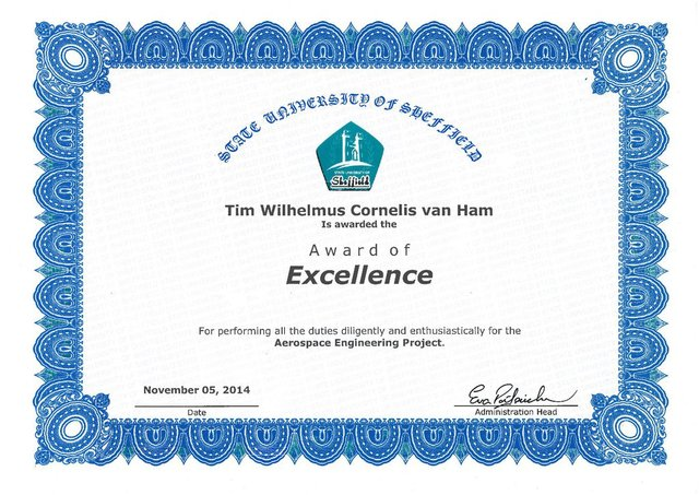 Tims 'award of excellence'
