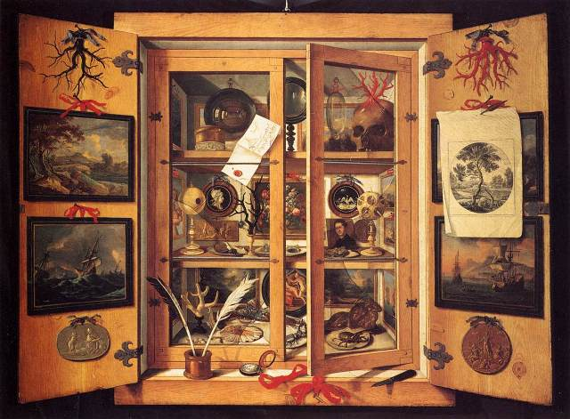 Het thema van de avond is de Wunderkammer, waar kunst en wetenschap elkaar troffen. Foto: Wikimedia Commons