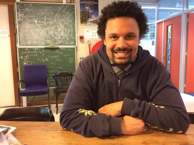 Valério Ribeiro gaat vanuit Nijmegen door naar Botswana om daar de allereerste onderzoeksgroep sterrenkunde op te zetten. Foto: Annemarie Haverkamp