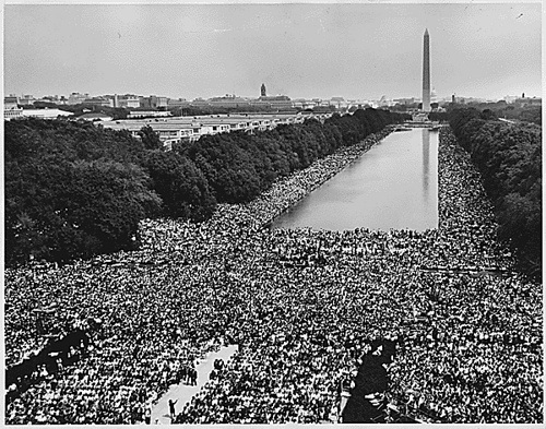 March on Washington, 1963. Foto: U.S. National Archives