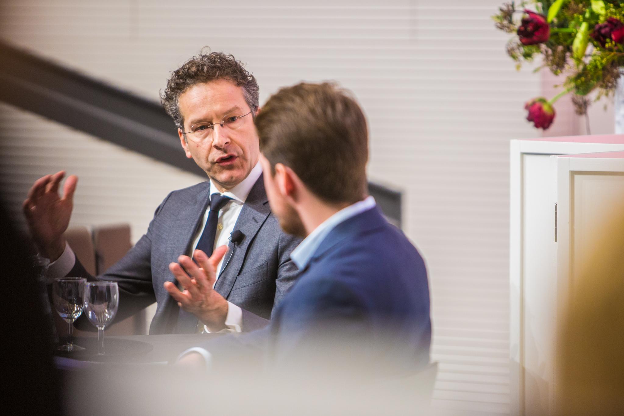 Minister Jeroen Dijsselbloem op de Radboud Universiteit. Foto: Marjolein van Diejen