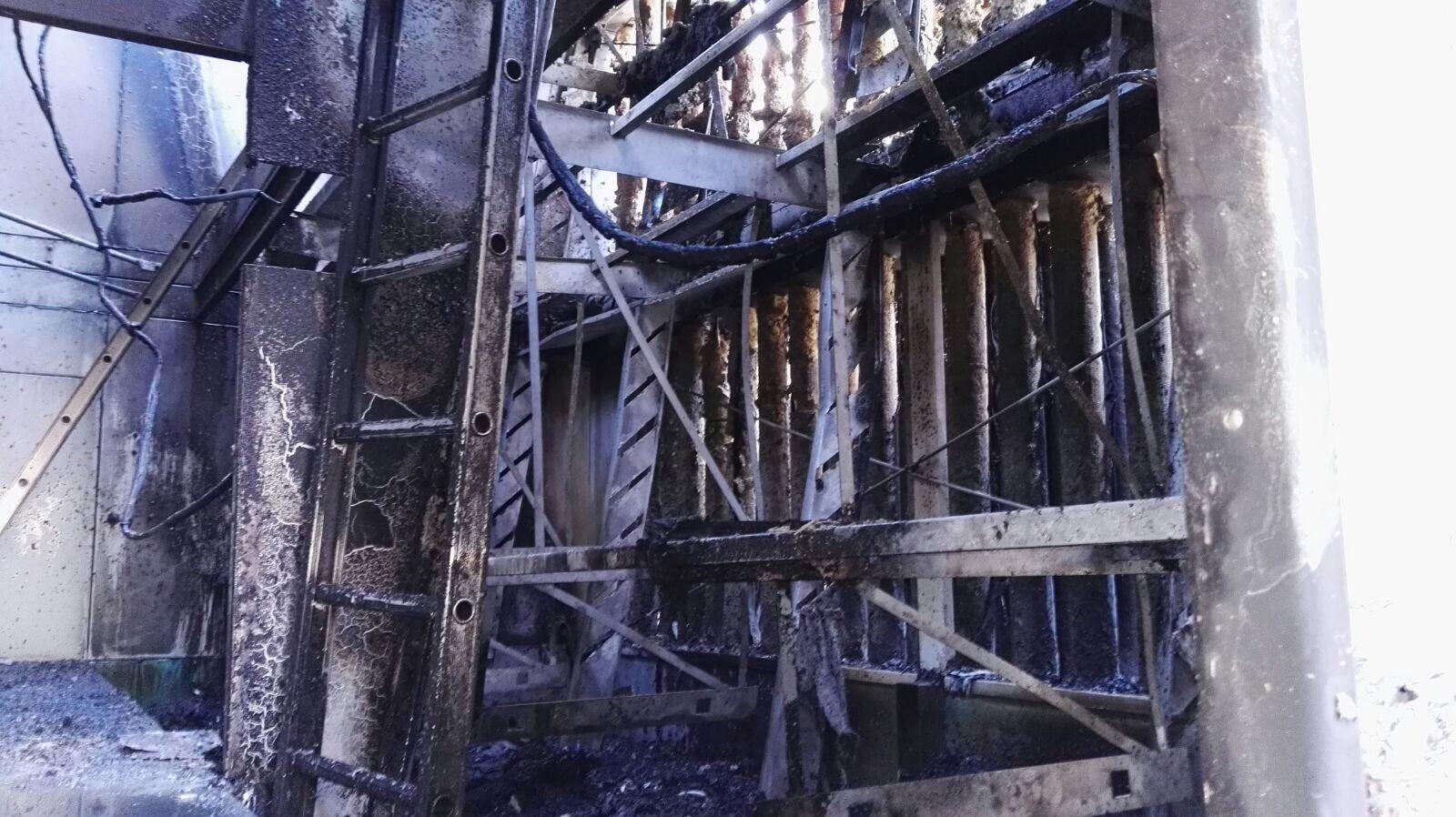 De uitgebrande koeltoren. Foto: Tim van Ham