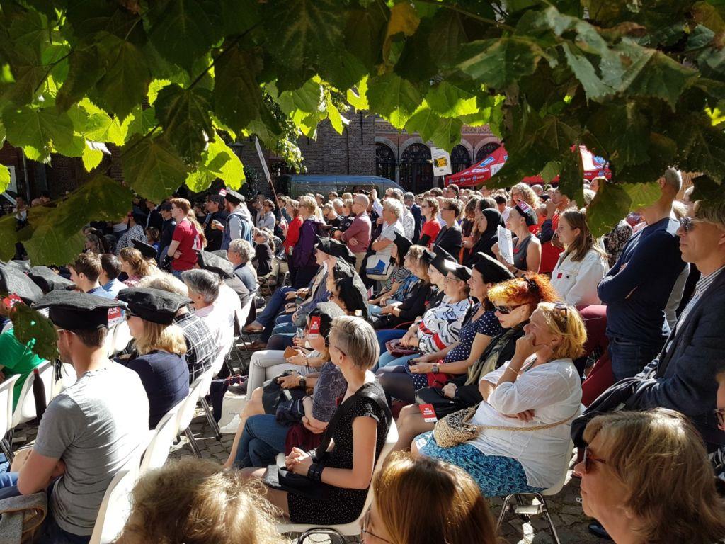 Protest op het Gerecht. Foto: Vox