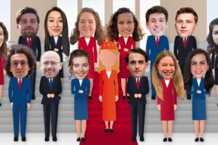 Alle leden van het Studentenkabinet (via studentenkabinet.nl)
